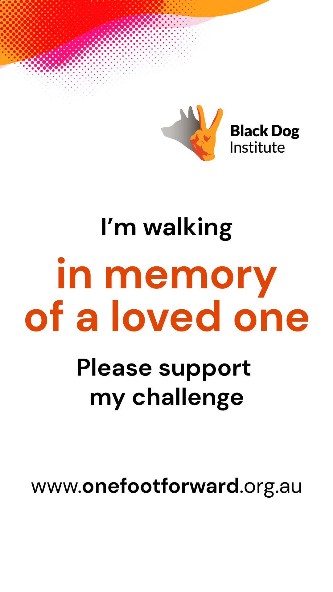 Instagram Story - Walking in Memory